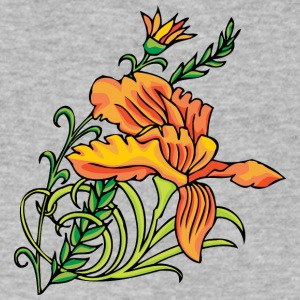 orange_flowers - Men's V-Neck T-Shirt by Canvas