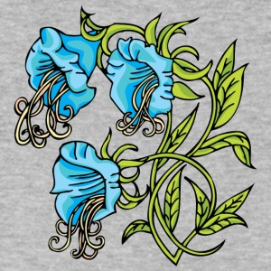 blue_flowers_and_green_leafes - Men's V-Neck T-Shirt by Canvas