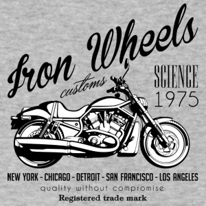 Iron Wheels - Men's V-Neck T-Shirt by Canvas