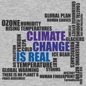 Climate Change Is Real - T-Shirt - Men's V-Neck T-Shirt by Canvas