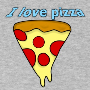 I love pizza - Men's V-Neck T-Shirt by Canvas
