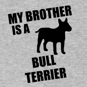 My Brother Is A Bull Terrier - Men's V-Neck T-Shirt by Canvas