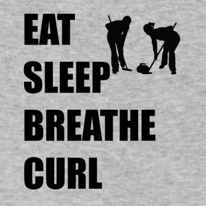 Eat Sleep Breathe Curl - Men's V-Neck T-Shirt by Canvas