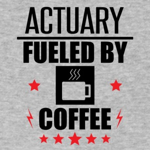 Actuary Fueled By Coffee - Men's V-Neck T-Shirt by Canvas