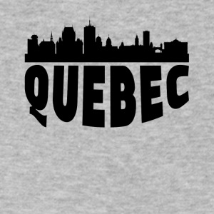 Quebec Canada Cityscape Skyline - Men's V-Neck T-Shirt by Canvas