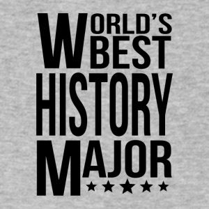 World's Best History Major - Men's V-Neck T-Shirt by Canvas
