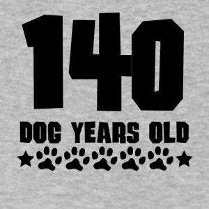 140 Dog Years Old Funny 20th Birthday - Men's V-Neck T-Shirt by Canvas