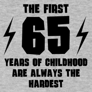 The First 65 Years Of Childhood - Men's V-Neck T-Shirt by Canvas