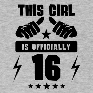 This Girl Is Officially 16 - Men's V-Neck T-Shirt by Canvas