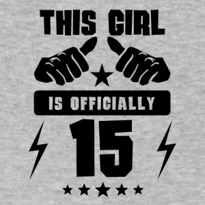 This Girl Is Officially 15 - Men's V-Neck T-Shirt by Canvas