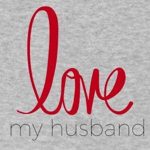 love my husband - Men's V-Neck T-Shirt by Canvas