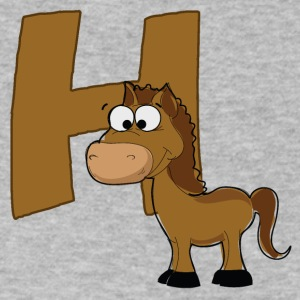 H Is For Horse - Men's V-Neck T-Shirt by Canvas