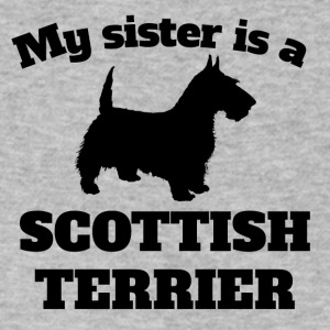 My Sister Is A Scottish Terrier - Men's V-Neck T-Shirt by Canvas