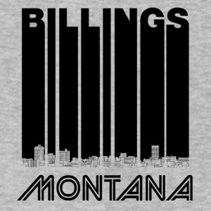 Retro Billings Montana Skyline - Men's V-Neck T-Shirt by Canvas