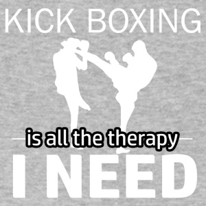 Kick Boxing is my therapy - Men's V-Neck T-Shirt by Canvas