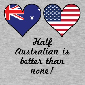 Half Australian Is Better Than None - Men's V-Neck T-Shirt by Canvas