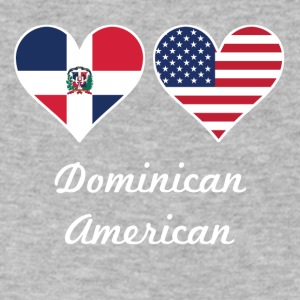Dominican American Flag Hearts - Men's V-Neck T-Shirt by Canvas