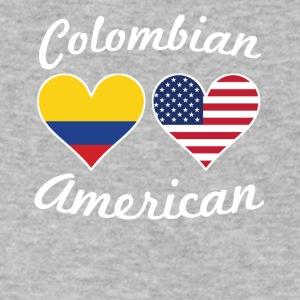Colombian American Flag Hearts - Men's V-Neck T-Shirt by Canvas