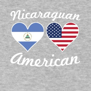 Nicaraguan American Flag Hearts - Men's V-Neck T-Shirt by Canvas