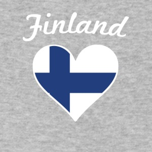 Finland Flag Heart - Men's V-Neck T-Shirt by Canvas