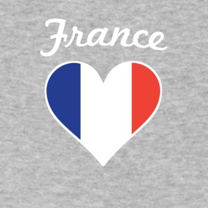 France Flag Heart - Men's V-Neck T-Shirt by Canvas