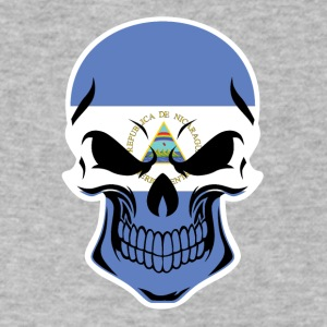Nicaraguan Flag Skull - Men's V-Neck T-Shirt by Canvas