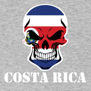 Costa Rican Flag Skull Costa Rica - Men's V-Neck T-Shirt by Canvas