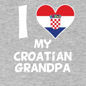 I Heart My Croatian Grandpa - Men's V-Neck T-Shirt by Canvas