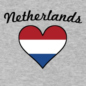 Netherlands Flag Heart - Men's V-Neck T-Shirt by Canvas