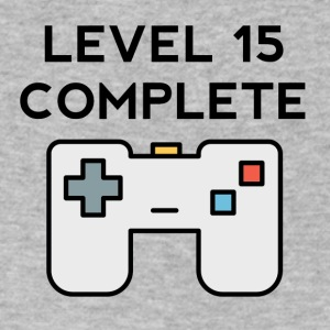 Level 15 Complete 15th Birthday - Men's V-Neck T-Shirt by Canvas