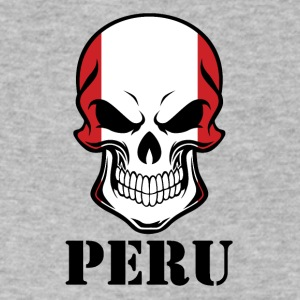 Peruvian Flag Skull Peru - Men's V-Neck T-Shirt by Canvas