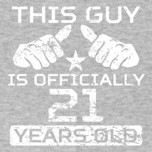 This Guy Is Officially 21 Years Old - Men's V-Neck T-Shirt by Canvas