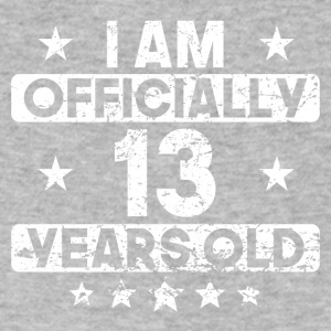I Am Officially 13 Years Old 13th Birthday - Men's V-Neck T-Shirt by Canvas