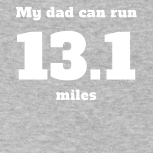 My Dad Can Run 13.1 Miles - Men's V-Neck T-Shirt by Canvas