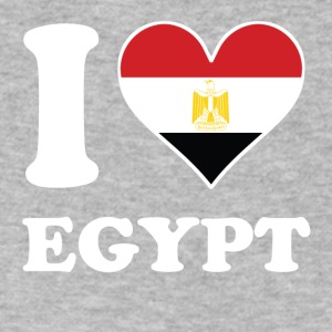 I Love Egypt Egyptian Flag Heart - Men's V-Neck T-Shirt by Canvas