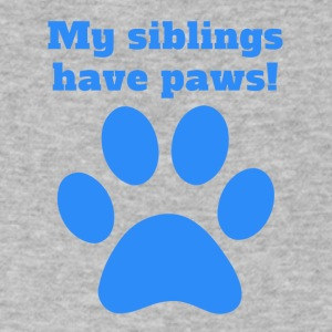 My Siblings Have Paws - Men's V-Neck T-Shirt by Canvas