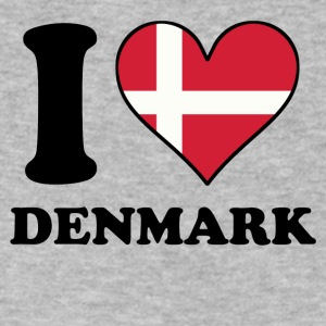 I Love Denmark Danish Flag Heart - Men's V-Neck T-Shirt by Canvas