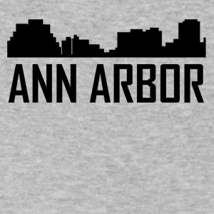 Ann Arbor Michigan City Skyline - Men's V-Neck T-Shirt by Canvas