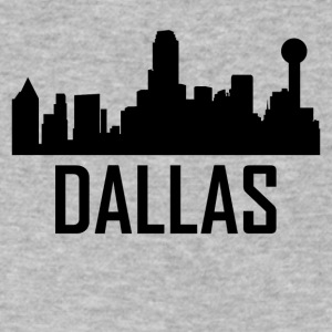 Dallas Texas City Skyline - Men's V-Neck T-Shirt by Canvas