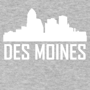 Des Moines Iowa City Skyline - Men's V-Neck T-Shirt by Canvas