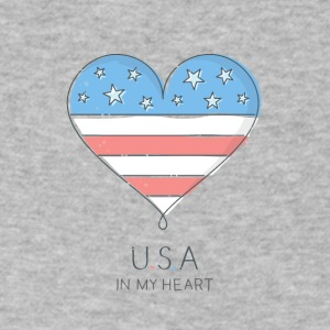 American Heart - Men's V-Neck T-Shirt by Canvas