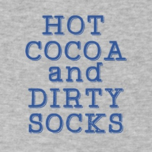 Hot cocoa and dirty socks - Men's V-Neck T-Shirt by Canvas