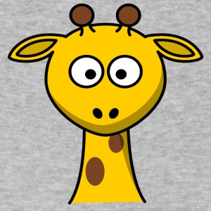 Funny giraffe comic style - Men's V-Neck T-Shirt by Canvas