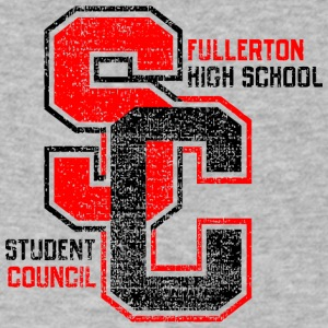 Fullerton High School Student Council SC - Men's V-Neck T-Shirt by Canvas