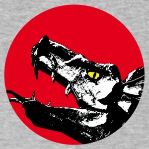 dragon head - Men's V-Neck T-Shirt by Canvas