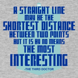 The Third Doctor quote - Men's V-Neck T-Shirt by Canvas