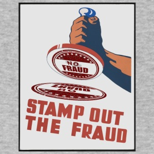 stamp out fraud - Men's V-Neck T-Shirt by Canvas