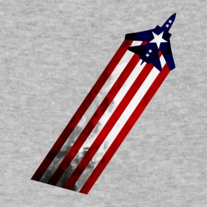Patriot Plane The Fourth is coming up soon - Men's V-Neck T-Shirt by Canvas