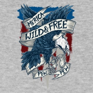 Merica home of the wild free eagle - Men's V-Neck T-Shirt by Canvas