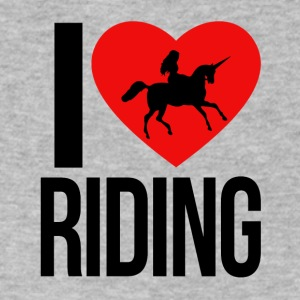 I LOVE RIDING AN UNICORN - Men's V-Neck T-Shirt by Canvas